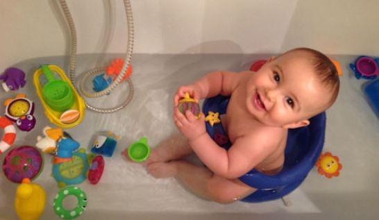 jeux bain bébé